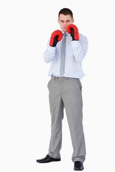 Businessman prepared for tough negotiation
