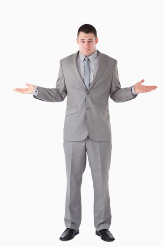 Portrait of a lost businessman
