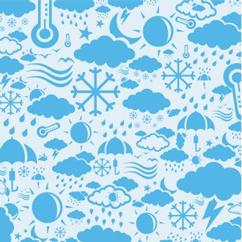 Background collected from weather symbols. A vector illustration