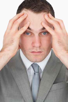 Portrait of a tired entrepreneur