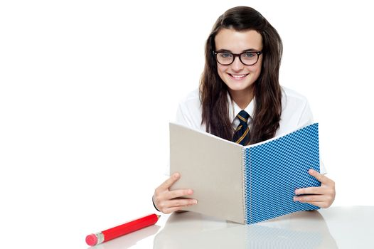 Intelligent student preparing for test