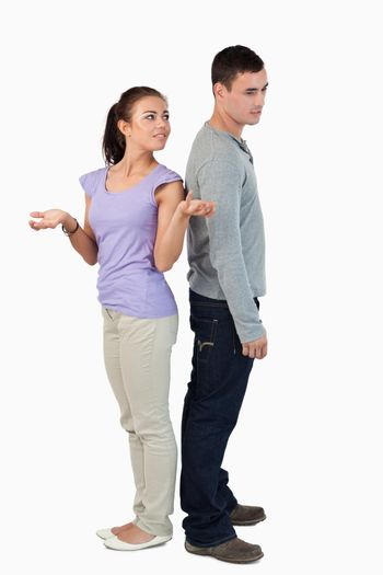Young couple experiencing relationship problems