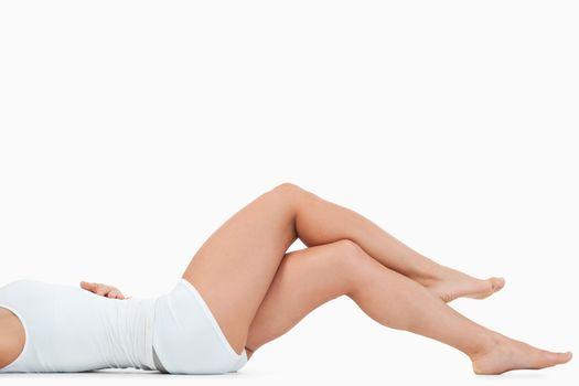 Feminine crossed legs