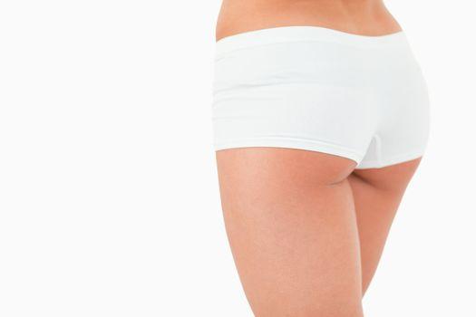 Close up of feminine buttocks
