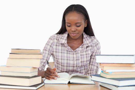 Young woman enjoying a novel