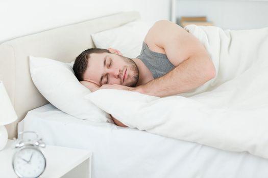 Serene man sleeping