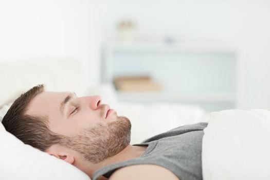 Quiet man sleeping