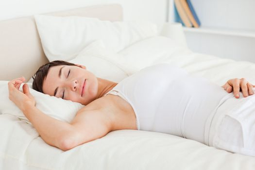 Beautiful woman having a nap