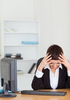 Unhappy secretary