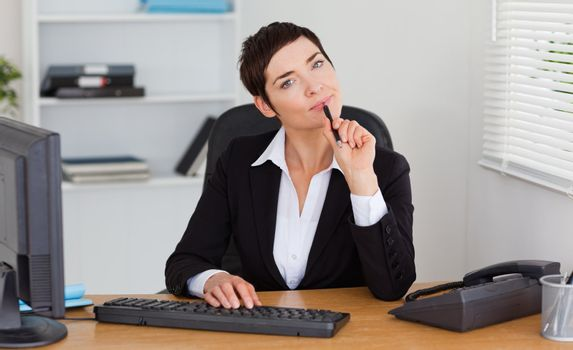 Thoughtful secretary