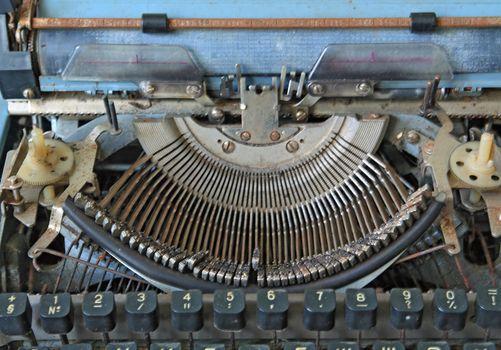 aging printed type-writer
