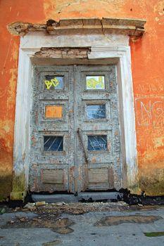 terrible door in old-time house
