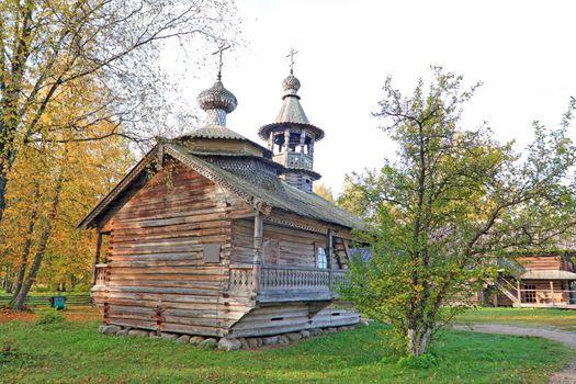 aging orthodox chapel in village