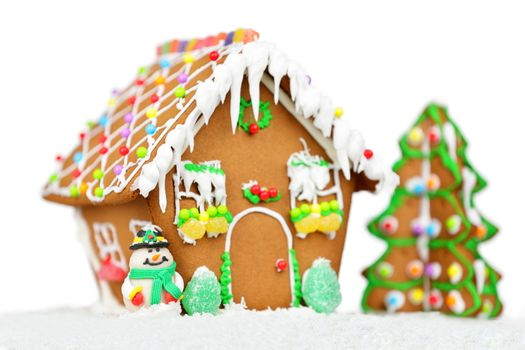 Gingerbread house isolated