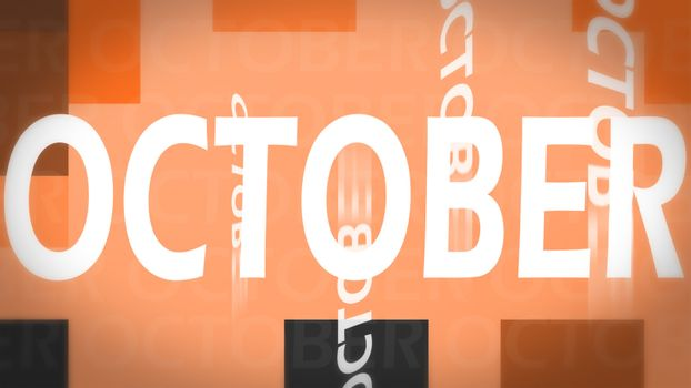 Creative image of October concept