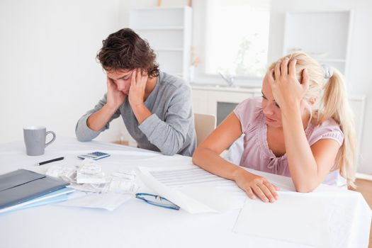 Concerned couple with hone accounts