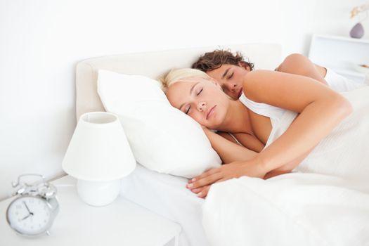 Quiet couple sleeping