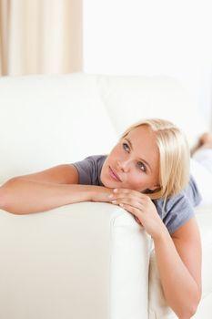 Portrait of a serene woman posing