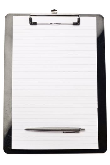 Pen at the bottom of note pad