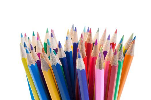 Color pencils gathering