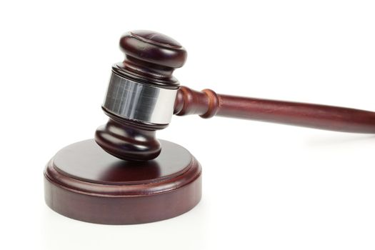 Simple gavel in action