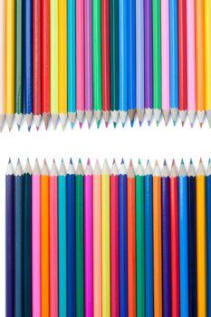 Color pencils confrontation