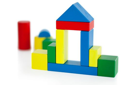 House built out of wooden toy