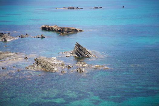 rock at seaside