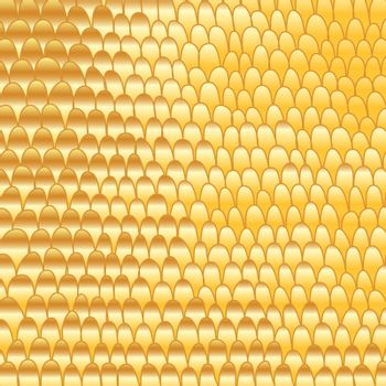 Gold doodle hand-made abstract background