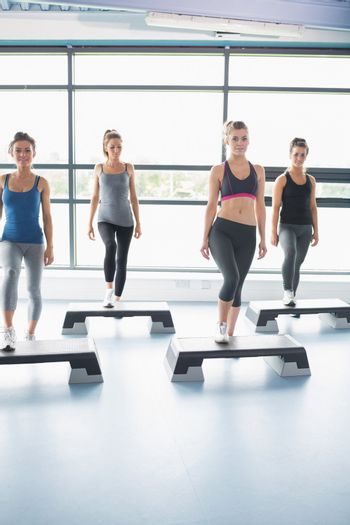 Aerobic group stepping