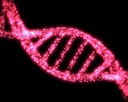 Pink DNA Helix