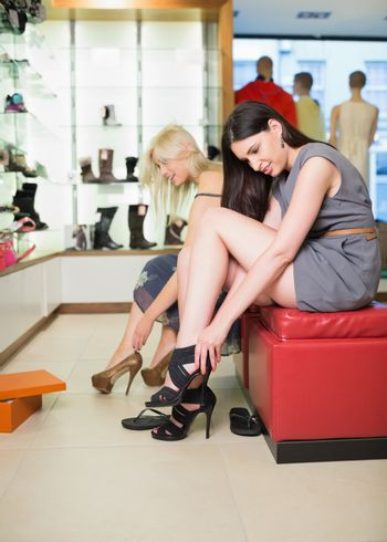Women searching for shoes