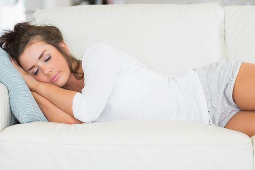 Girl taking nap