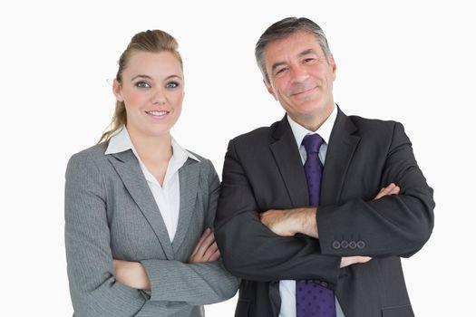Cheerful businesspeople