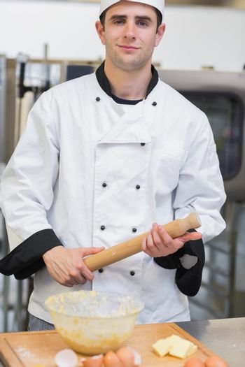 Baker holding a rolling pin