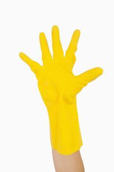 Waving hand in glove