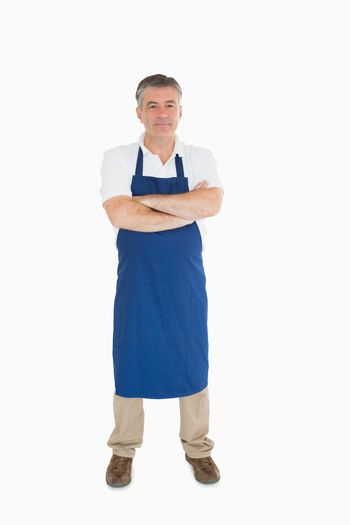 Man standing in apron