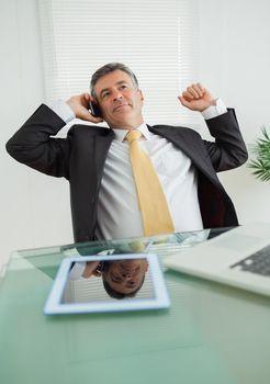 Business man phoning