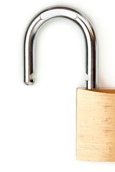 Unlocked padlock close-up
