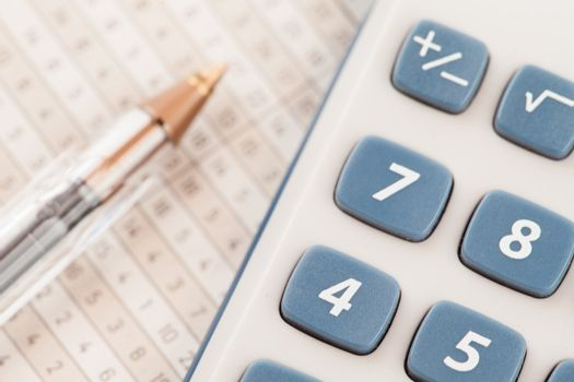 Sector of calculator