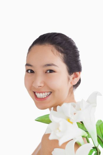 Natural beauty with lilies