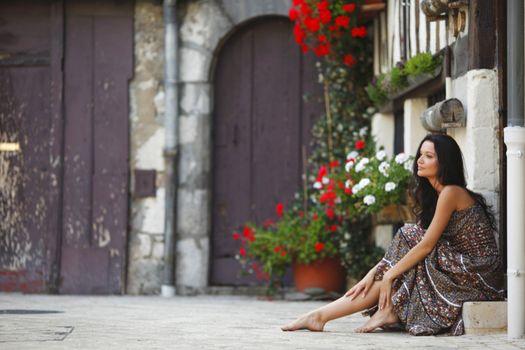 woman on street