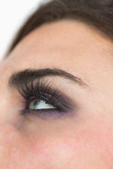 Smoky eyes and long eyelashes