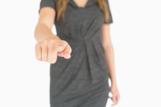 Female finger pointing