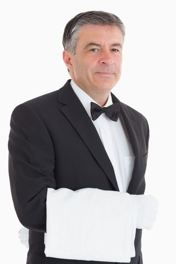 Waiter with a towel