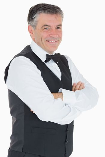 Man in waistcoat and bowtie