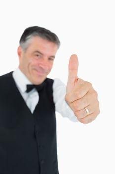 Content man in suit