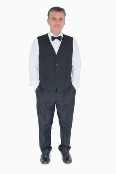 Waiter in uniform