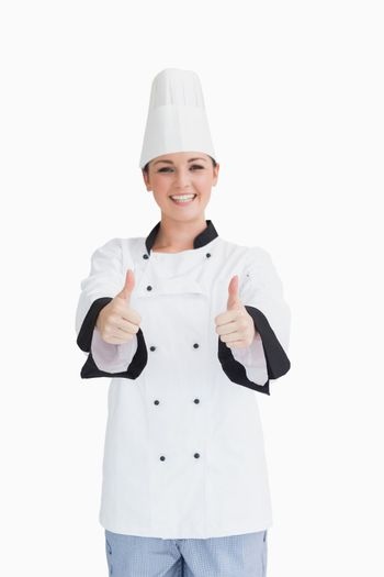 Cook with thumbs up