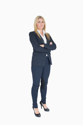 Businesswoman crossing her arms
